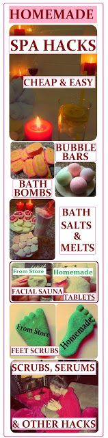 DIY Spa Product Recipes: Bubble Bars, Bath Bombs, Salts, Melts, Scrubs, Serums & Lotions