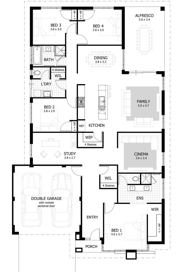 The Collette is the ideal family home – with spacious flowing spaces for families to come together and private areas for moments of seclusion.