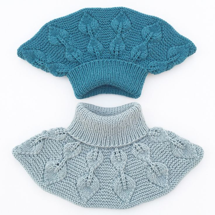 Ravelry: Løvfallhals / Falling Leaves Collar pattern by Strikkelisa