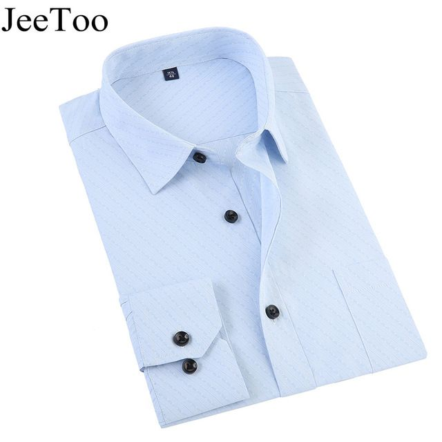 Buy now New Arrivel 2017 White Mens Formal Shirt Long Sleeve Slim Fit Mens Dress Shirts Business Male Shirts Plus Size Shirt For Men  just only $11.56 - 11.83 with free shipping worldwide  #shirtsformen Plese click on picture to see our special price for you