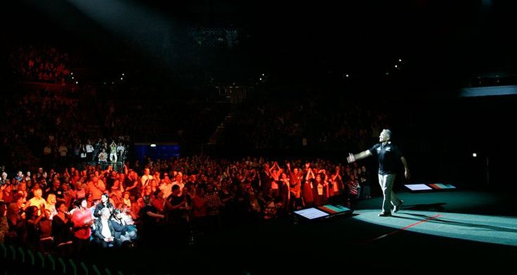 Cesar Millan at one of his live shows