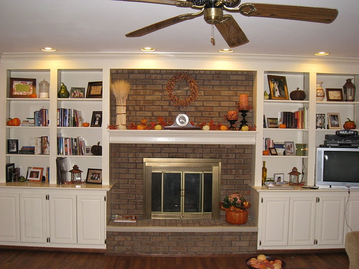 Best Fireplace Bookshelves Images On Pinterest - Fireplace with bookshelves