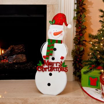 Wish your guests a Merry Christmas with our Santa Hat Snowman Easel! #Kirklands #HollyJolly #holidaydecor