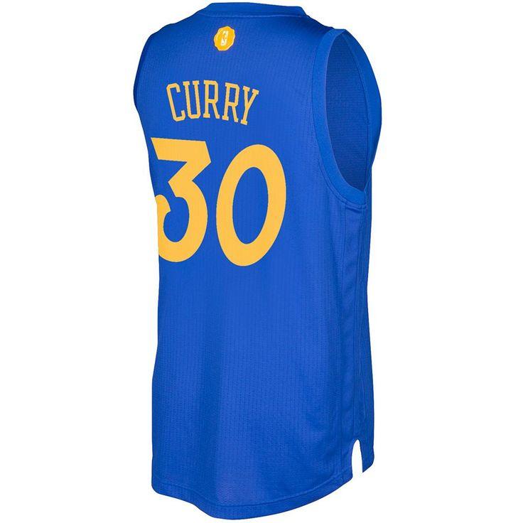 Men's Adidas Golden State Warriors Stephen Curry Swingman NBA Replica Jersey, Size: XXL, Blue