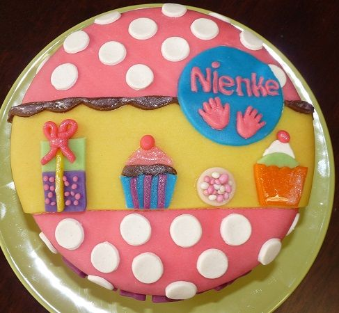 Geboorte #taart van #marsepein