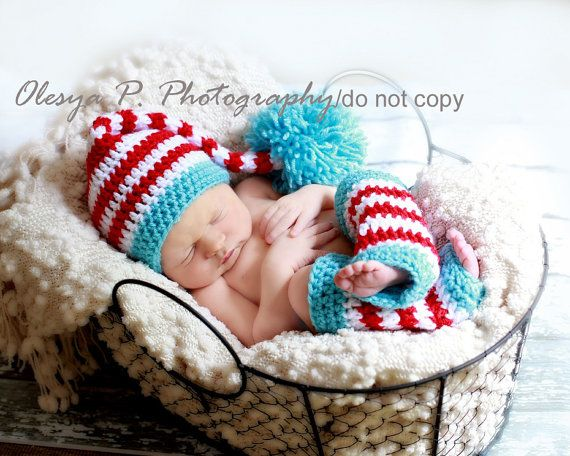 Dr. Seuss photo shoot!: Patterns Stockings, Baby Christmas Photo, Legs Warmers, Photo Props, Christmas Baby, Pdf Crochet, Dr. Seuss, Stockings Hats, Crochet Patterns