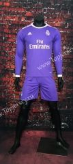 2016/17 Real Madrid Away Purple  LS  Soccer Uniform