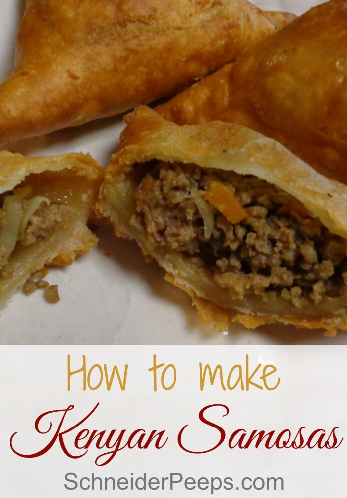 Kenyan samosas are one of those fun cultural foods that people just use what they have so there are many variations. These freeze well and my children love them!