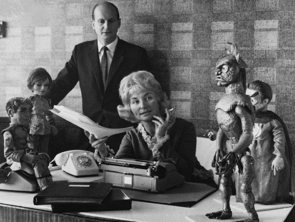 Gerry Anderson creator of Thunderbirds and numerous other Supermarionation series & wife Sylvia