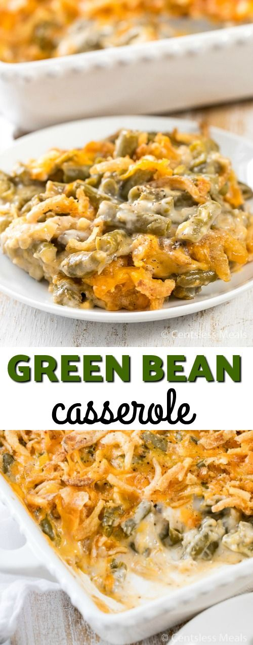 Classic Green Bean Casserole. We like the addition of the cheese. It gives it a better tasting flavor.