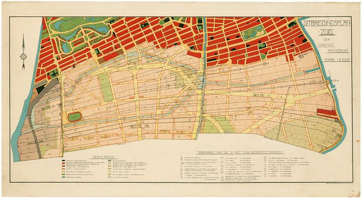 Amsterdam-South Expansion Plan The Amsterdam-South Expansion Plan as established by the city council. H.P. Berlage, 1915. NAI Collection, B...