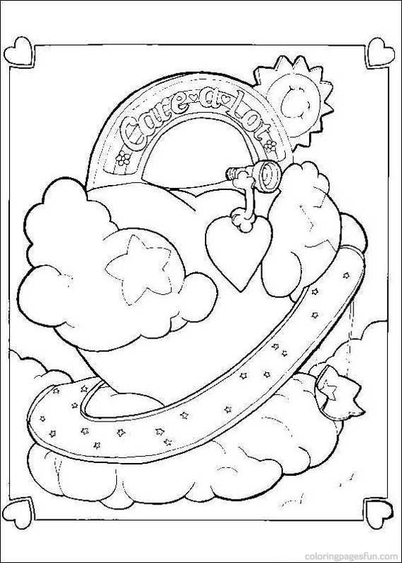 Care Bear Heart Coloring Page Find Your Favorite On Hellokids We Have Selected The Most Popular Pages Like
