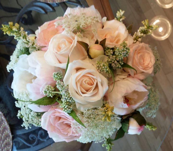 Enchanted forest wedding bouquet. www.celebrationsbridalandprom.com