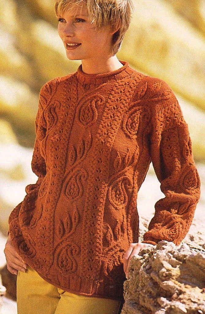 Рыжий пуловер