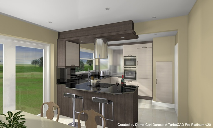 Advanced Kitchen Render with Tone Mapping - Created by Darrel Carl Durose in TurboCAD Pro Platinum v20 | #CAD #Software #Rendering #Design