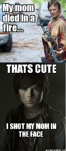 The Walking Dead - The one and ONLY time Carl is funny