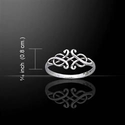 Silver Celtic Designed Ring.. IF I could get it in size 4 1/2.. dang small fingers. ;)