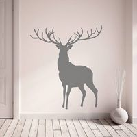 STAG WALL STICKER in Dark Grey.  Turn your living space into Richmond Park with your own Stag Wall Sticker! Available in a selection of sizes and colours.  £9.95 + Free Delivery!