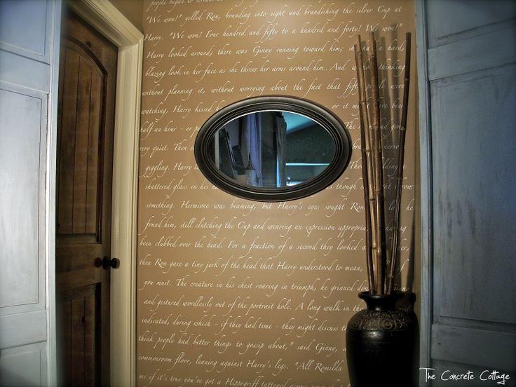 The Concrete Cottage: Script Wall: Vinyls, Idea, Quotes Wall, Decoration, Concrete Cottages, Scripts Wall, Harry Potter, Silhouette Cameo, Potter Scripts