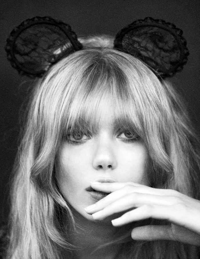 Frida Gustavsson. Love this hair style & fringe
