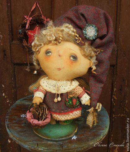Коллекционные куклы ручной работы. Ярмарка Мастеров - ручная работа Рождественские письма.... Handmade.
