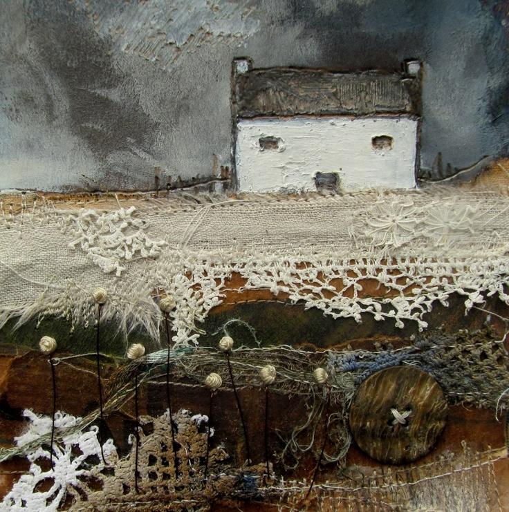 'A stormy night on the farm'  by Louise O'Hara of DrawntoStitch www.drawntostitch.com