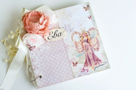 First Year Scrapbook Baby Album Custom made by VioletCloudlet