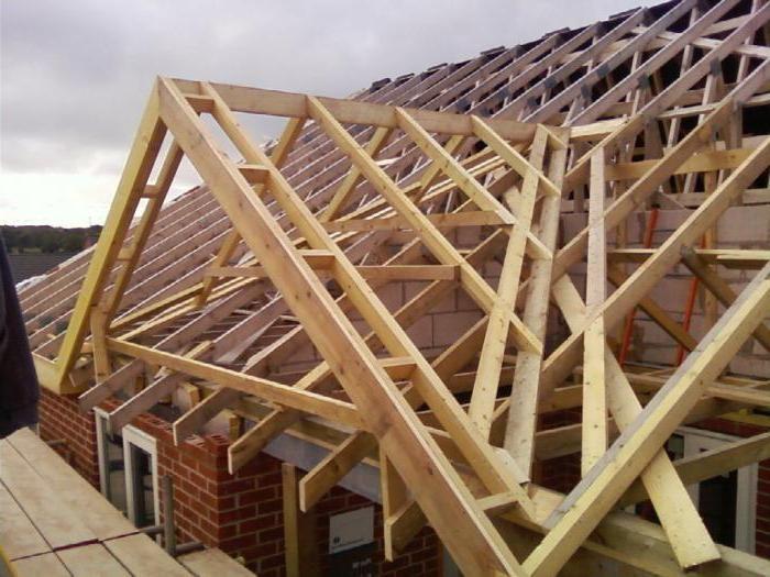 четырехскатная мансардная крыша стропильная система