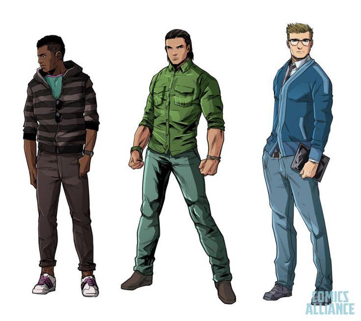 The NewPower RangersComics Feature Really Stylish Teens