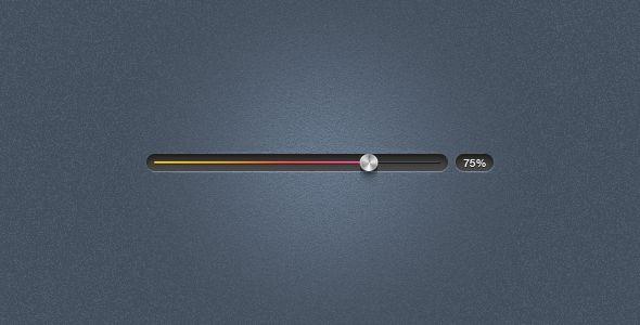 metal progress slider and display ui design
