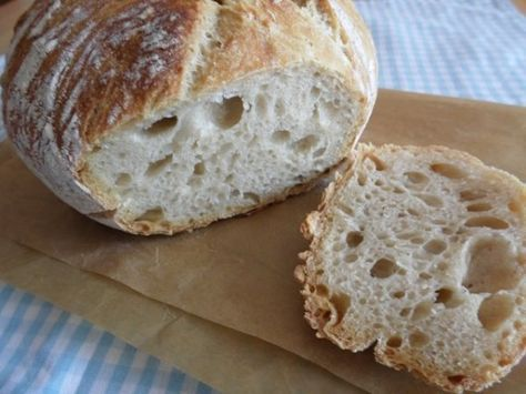 dagasztás nélküli, 12 órás kelesztési idejű kenyér recept