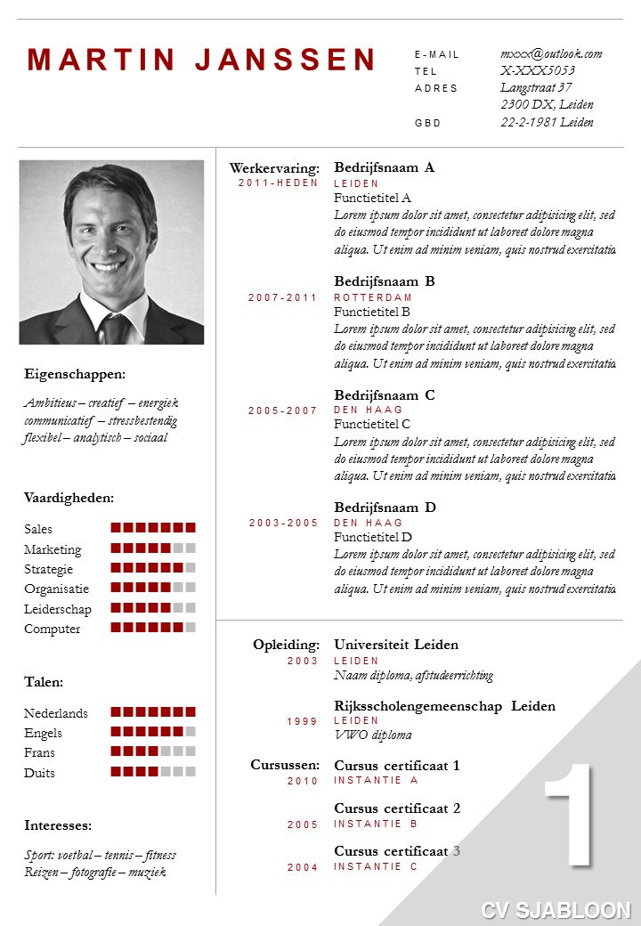 25  beste idee u00ebn over cv sjabloon op pinterest