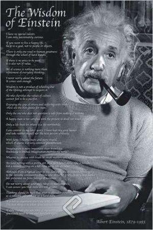 """ISP57006 """"Einstein - The Wisdom of a Genius"""" (24 x 36)"""