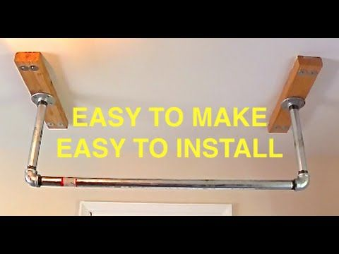 HOW TO MAKE A HOME MADE PULL UP BAR. LEARN HOW TO MAKE AND INSTALL A PULL UP BAR IN YOUR HOUSE.