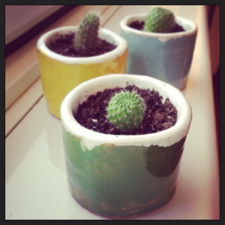 Hand made ceramic pots.