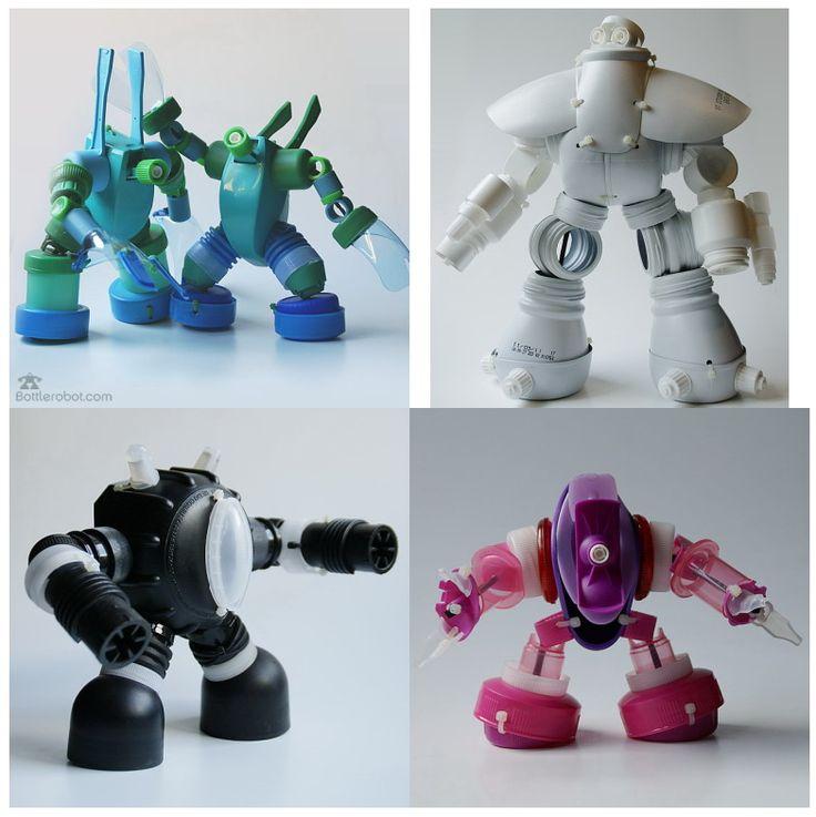 EL MUNDO DEL RECICLAJE: Recicla piezas de plástico y fabrica un robot