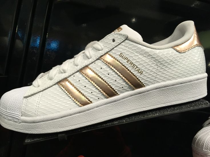 Adidas Superstar Gold And White