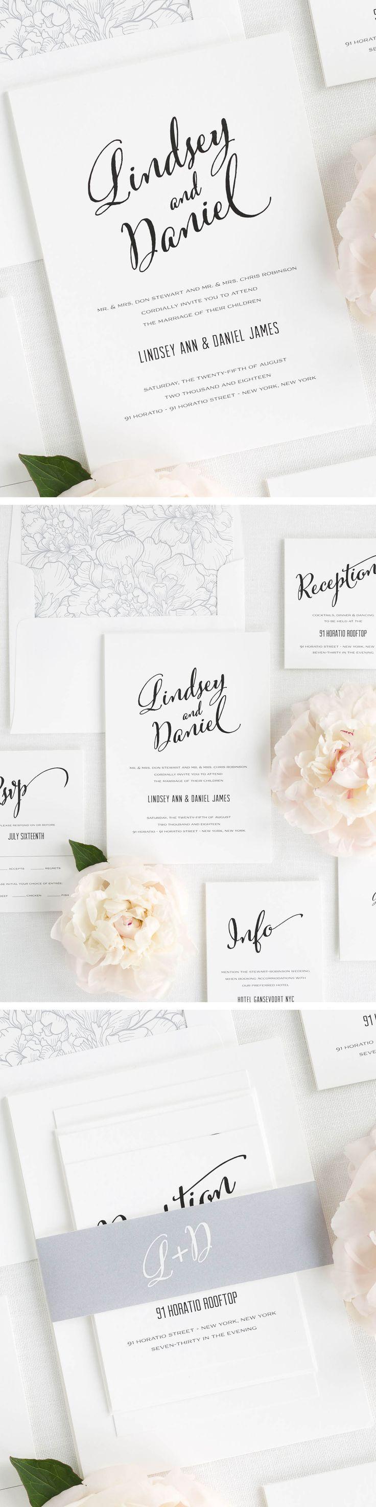 283 best WEDDING INVITES images on Pinterest | Invitation cards ...