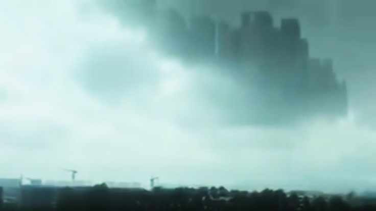 """Project Blue Beam? """"Floating City"""" Appears in the Sky over China"""