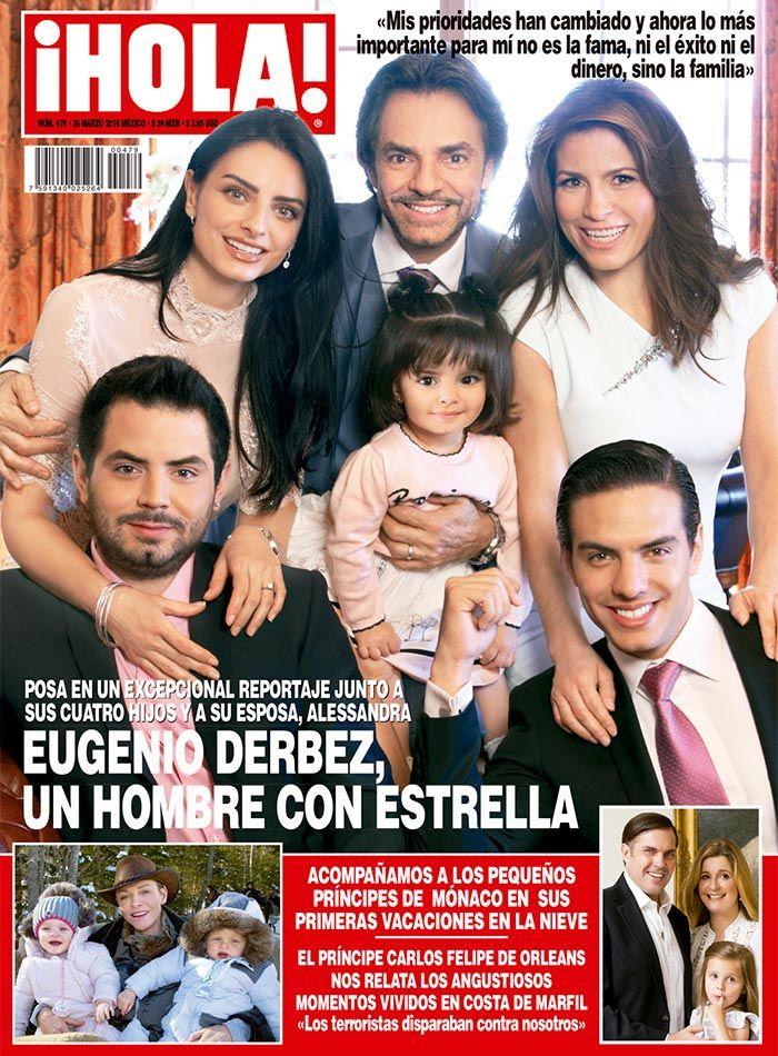 Eugenio Derbez posa en familia para nuestras páginas celebrando la develación de su estrella en el Paseo de la Fama de Hollywood.