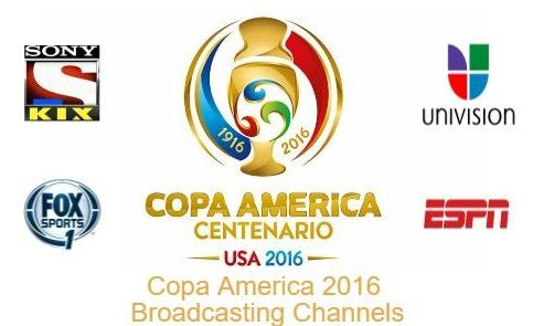 Copa America 2016  Broadcasting Channels