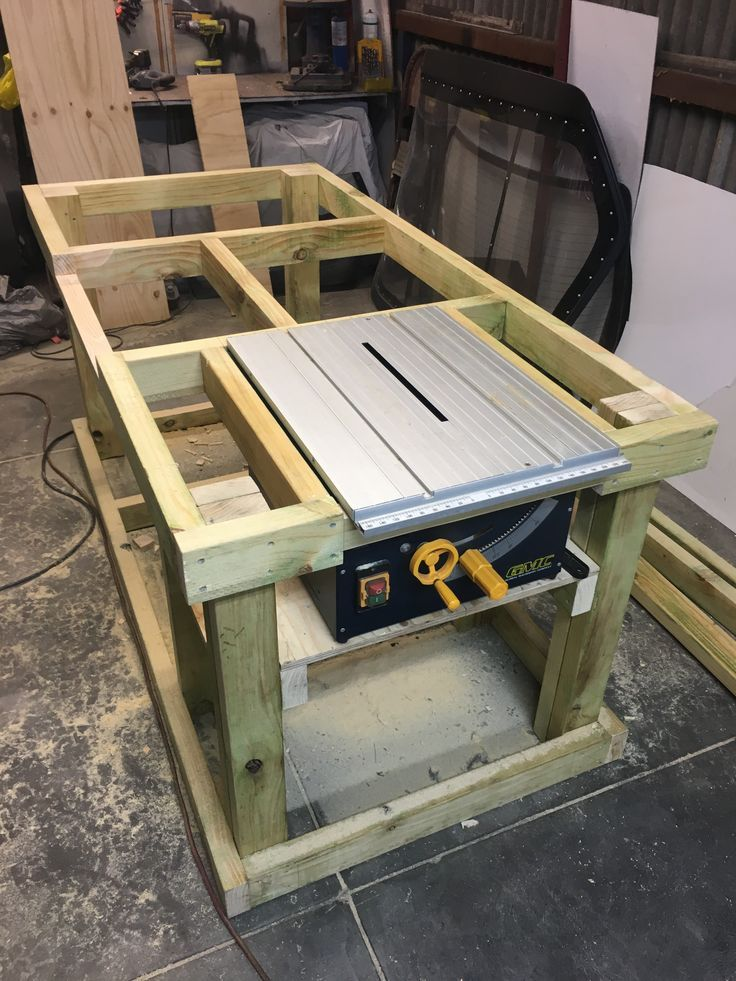 Woodwork bench coming along –