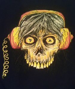 Lib Tech Board Technologies Tshirt Med Skull Headphones Black Cotton Long Slv | eBay