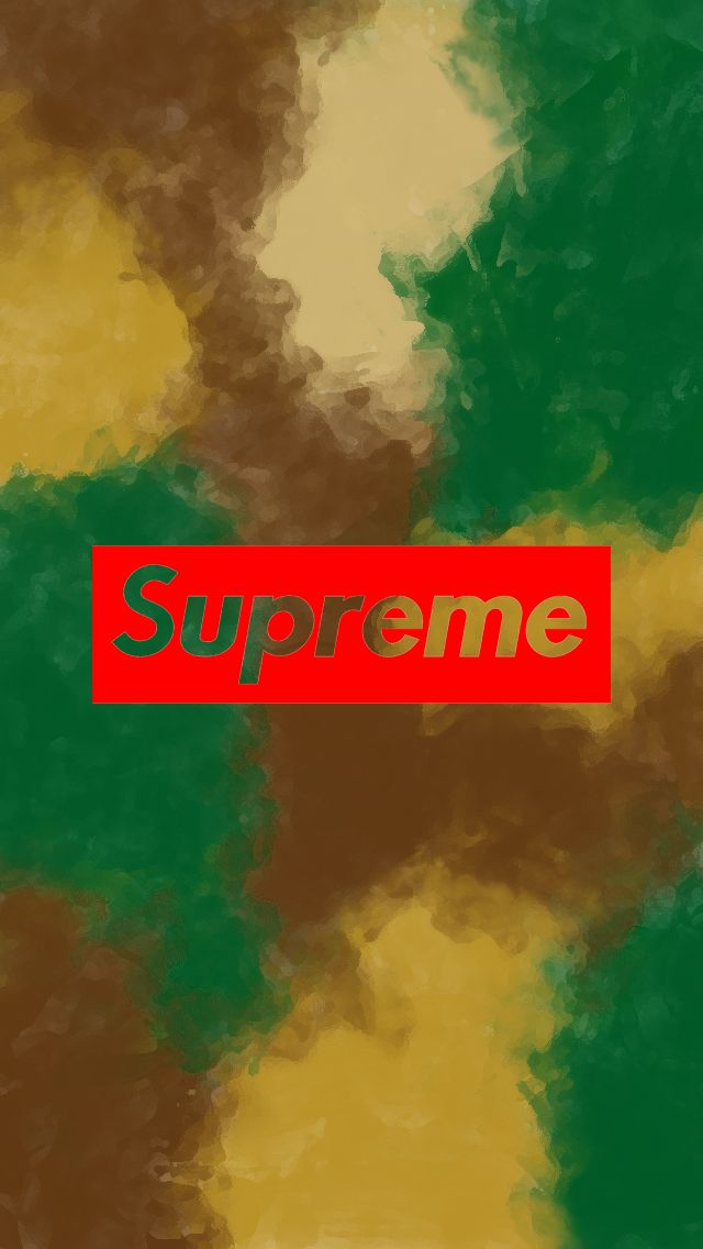 Supreme Watercolor Camouflage Wallpaper iPhone 5 by Joey Donaldson (2016)