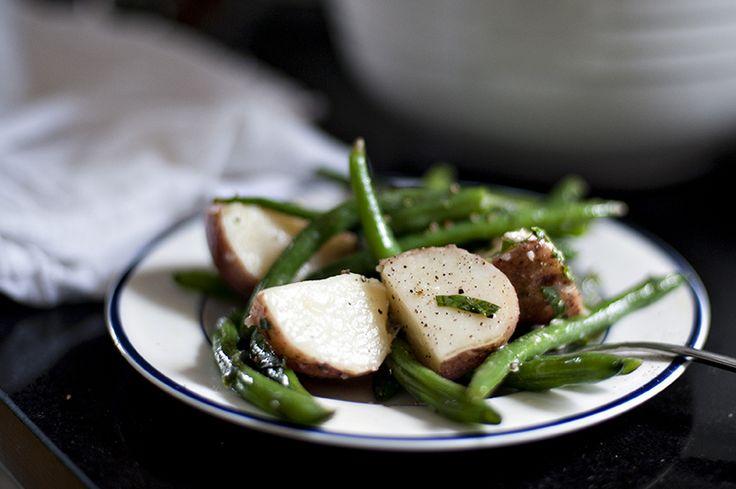potato salad with mustard basil vinaigrette green beans and potatoes ...