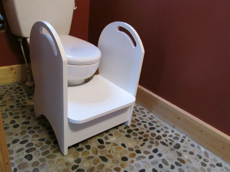 Deluxe Wood Potty Step Stool (white) by Clemswshop on Etsy