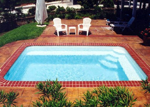 Small Rectangle Fiberglass Pool - Sea Isle