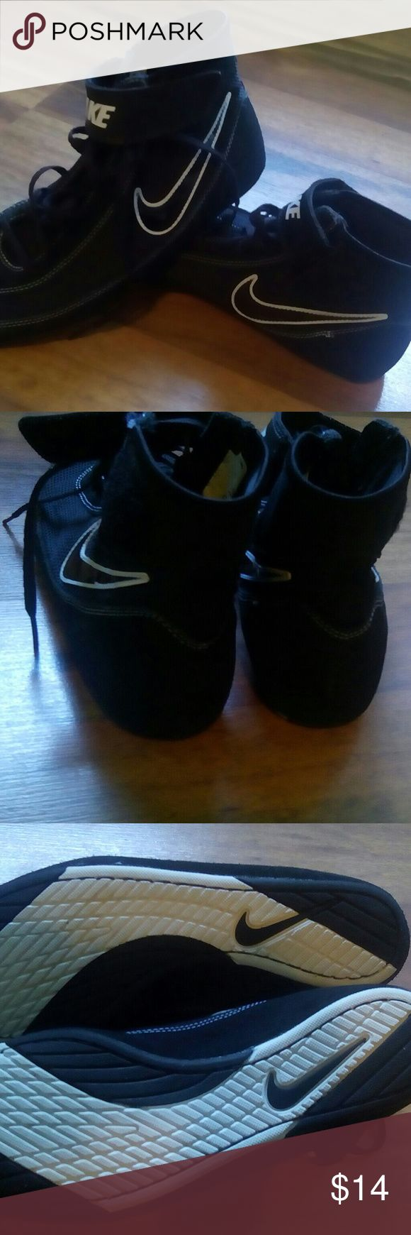 10.5 Nike wrestling shoes Brand new Never worn Black and white Nike wrestling shoes Nike Shoes Athletic Shoes