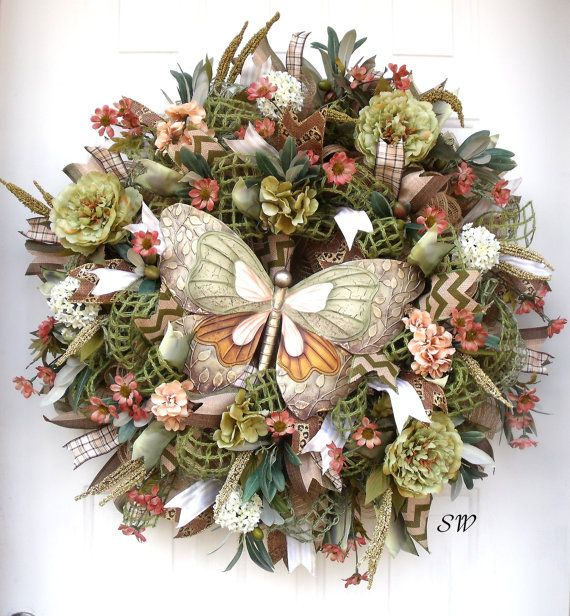 Deco Mesh Wreath Seasonal Wreathtuscan Themed By