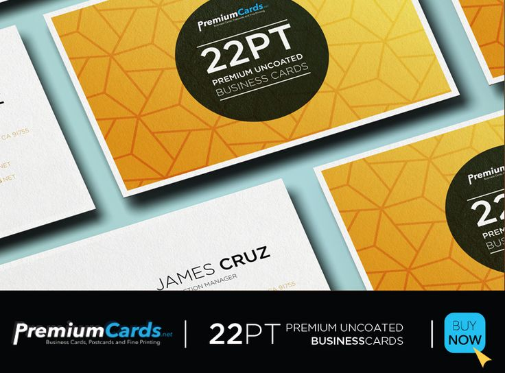 a premium quality business card made for top brands and a smooth uncoated